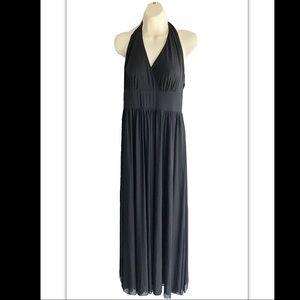 White House Black Market Black Halter Midi Dress